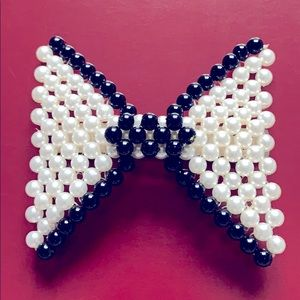 Bow Perl fashionable hair clip